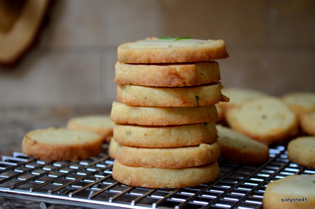 Meyer Lemon & Rosemary Glazed Butter Cookie