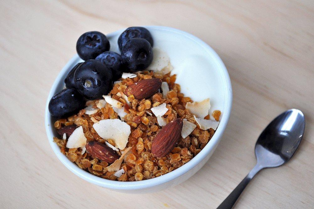 bowl of granola
