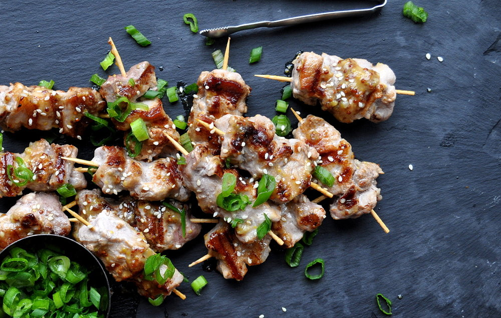Miso Maple Pork Skewers