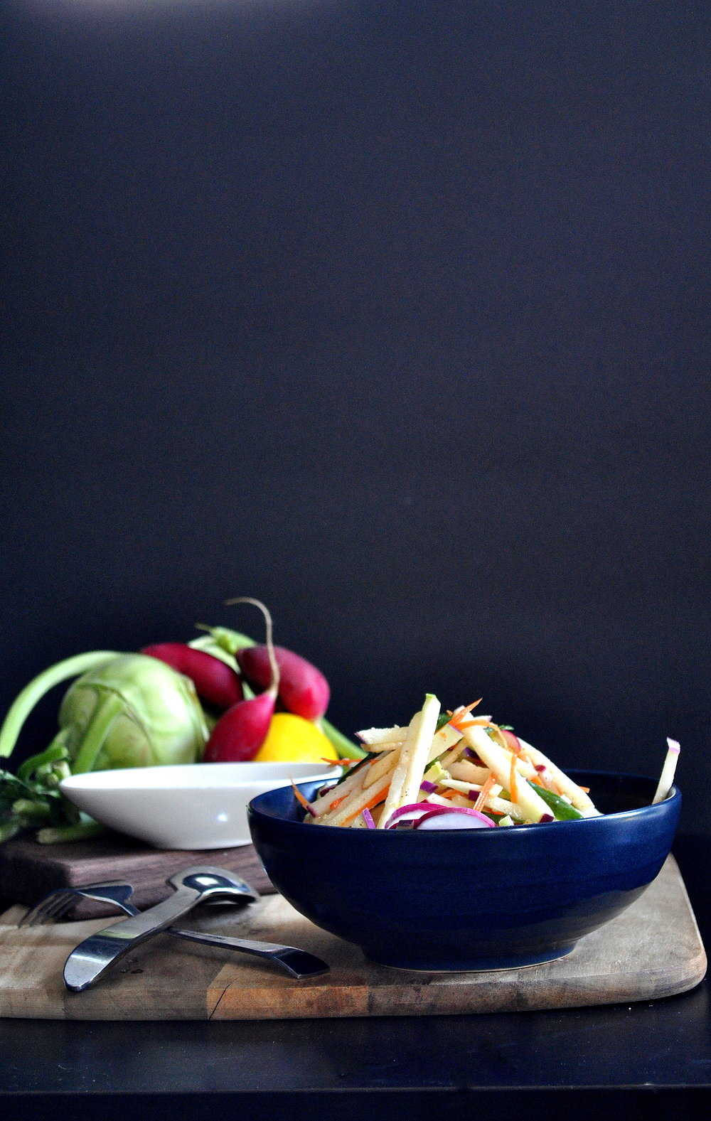 Apple and Kohlrabi Salad