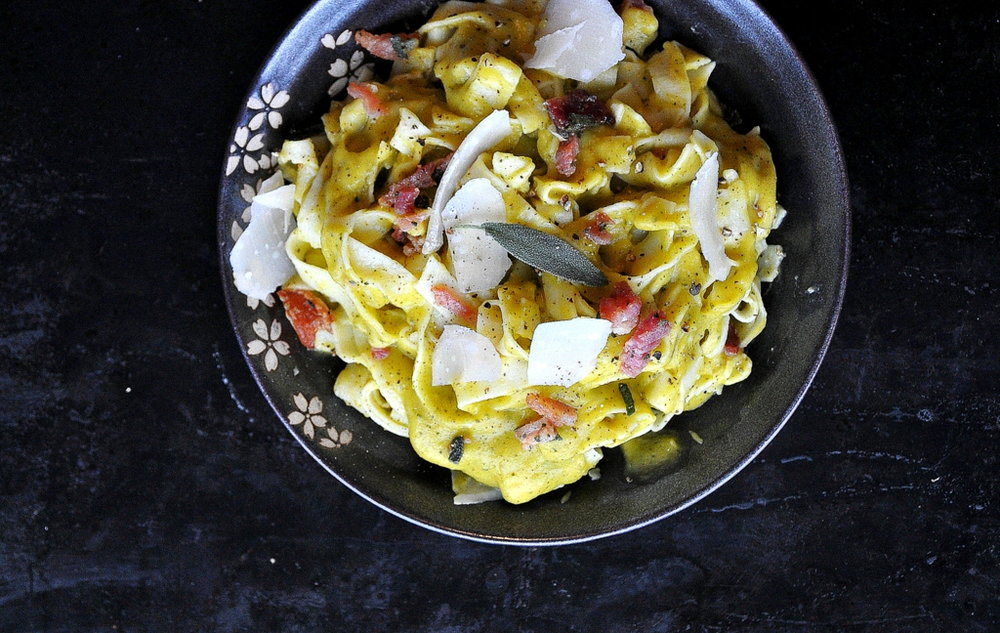Winter Squash Carbonara