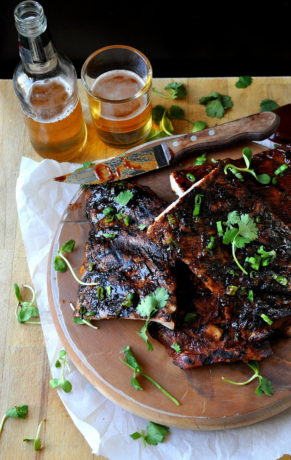 Sticky Ribs with Homemade BBQ Sauce