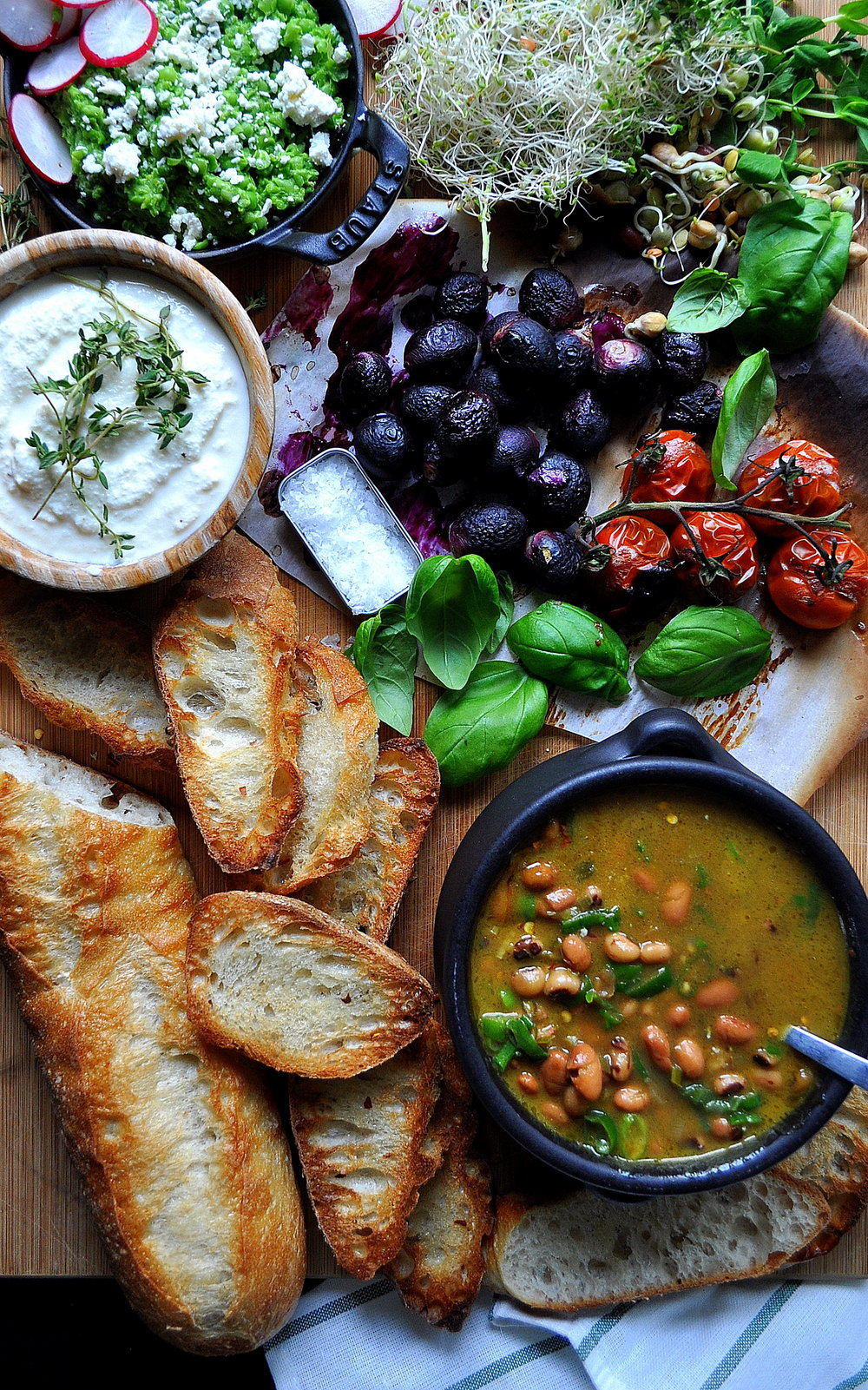 Coconut and Bean Soup with Crostini Bar by Food Well Said