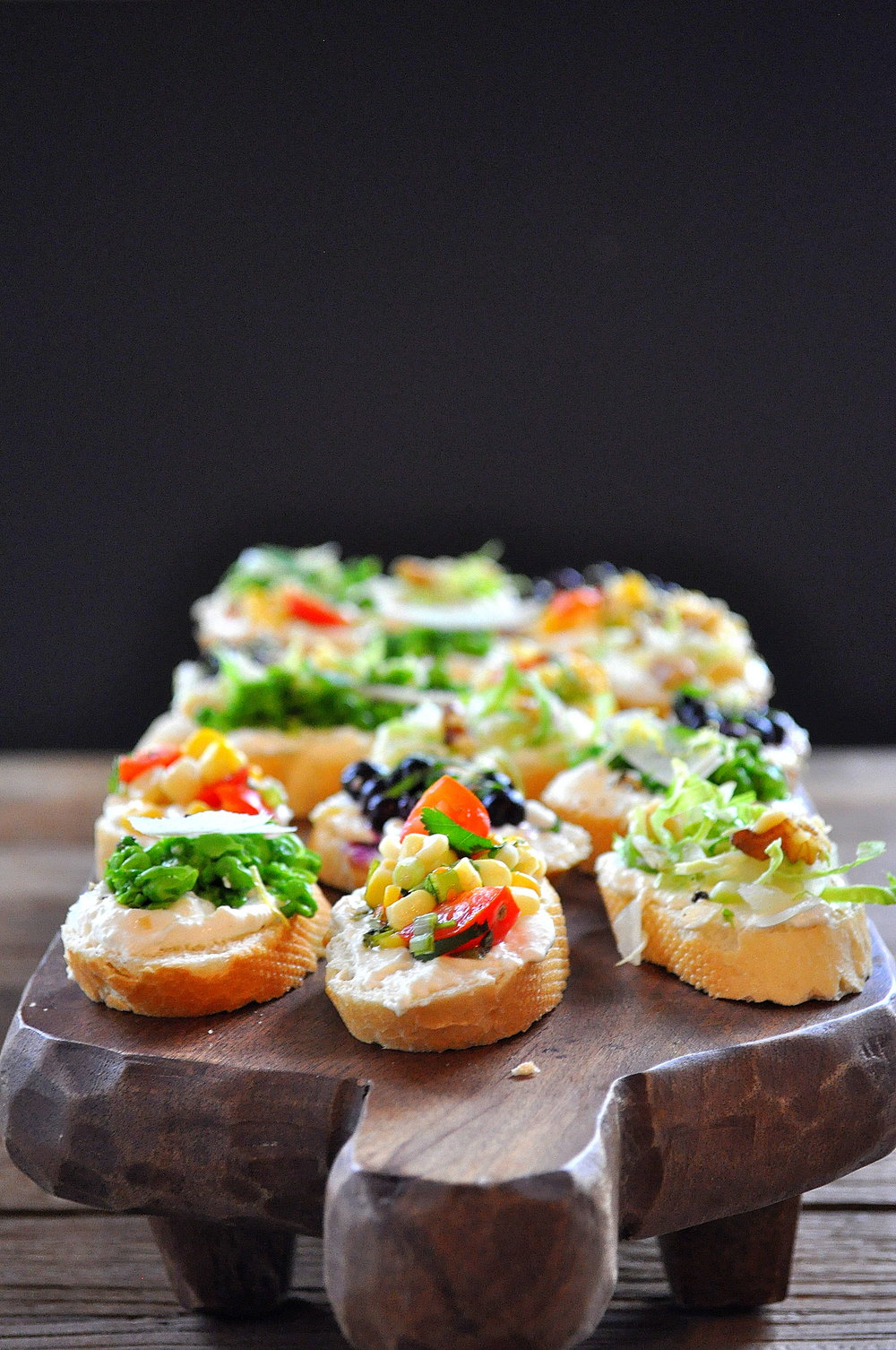 Assorted Vegetable Crostini by Food Well Said