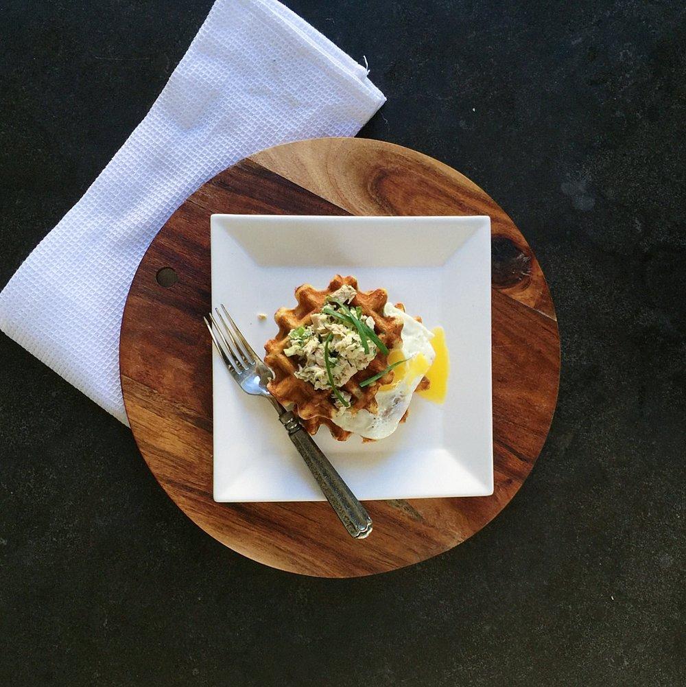 Tuna Melt Waffle by Food Well Said