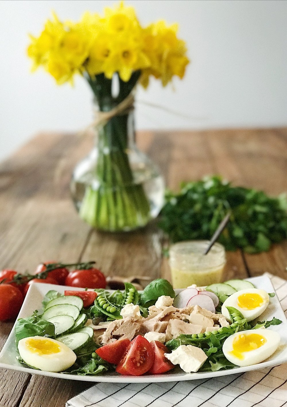 Tuna Egg Arugula Salad