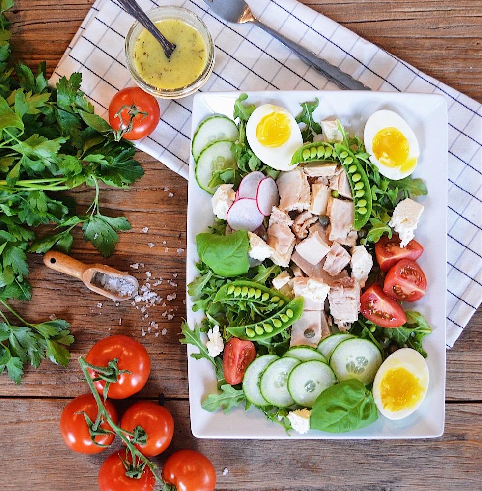 Tuna Egg Arugula Salad
