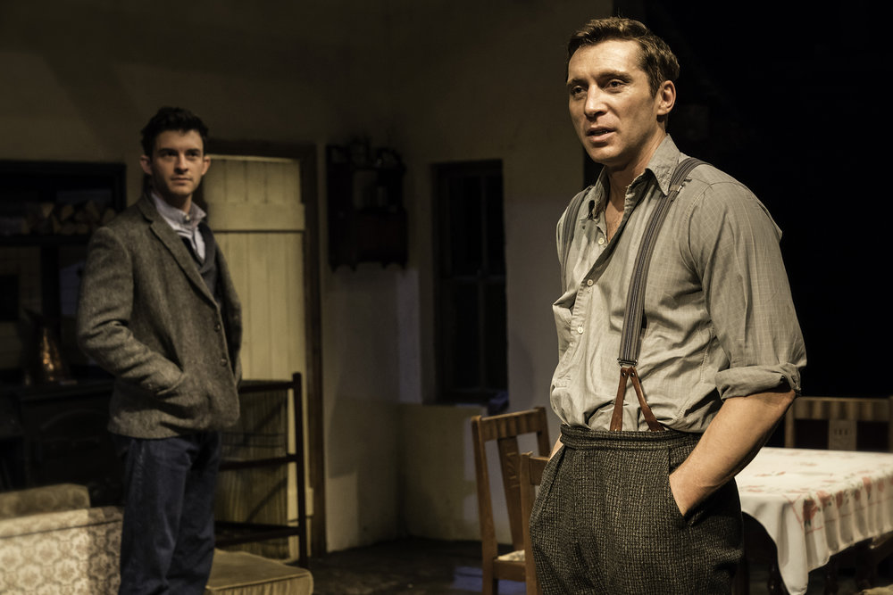 Jonathan Bailey (John) and Ben Batt (George) in The York Realist at the Donmar Warehouse, directed by Robert Hastie. Photo by Johan Persson 11583.jpg
