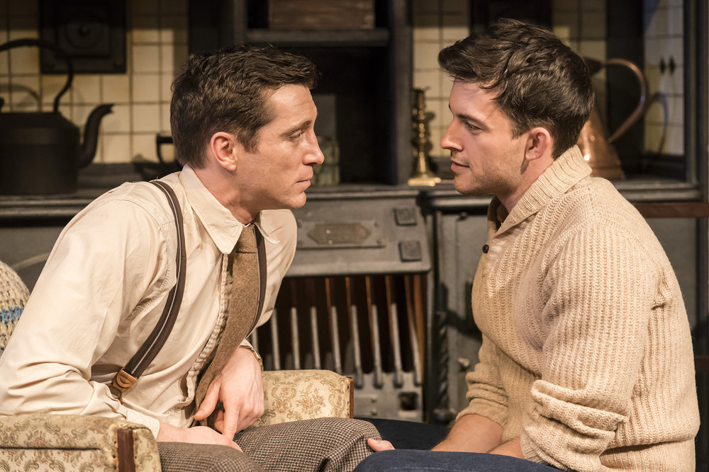 Ben Batt (George) and Jonathan Bailey (John)  in The York Realist at the Donmar Warehouse, directed by Robert Hastie. Photo by Johan Persson 12837.jpg