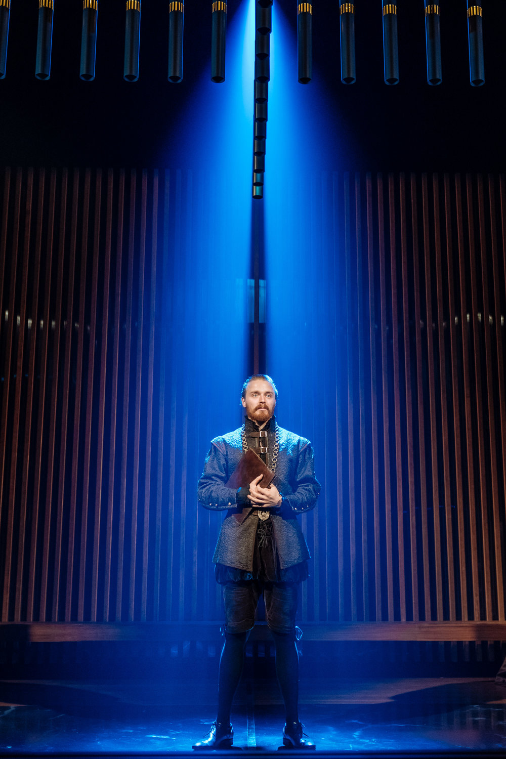 Jack Lowden (Angelo) in Measure for Measure at the Donmar Warehouse directed by Josie Rourke, designed by Peter McKintosh. Photo Manuel Harlan-134.jpg