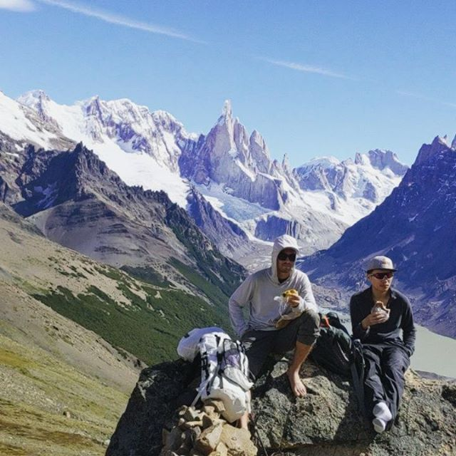 "spent the last 5 weeks in the Patagonia region across Argentina and Chile. hiked 110km via ""la O"" circuit. top requested video: @patrickglover as @andy.song and @arcococo as @migodong eating sandwiches in Patagonia🤷🥪 #givethepeoplewhattheywant #cerrotorre #torresdelpaine @hicece @chungysuniverse @cathietong"