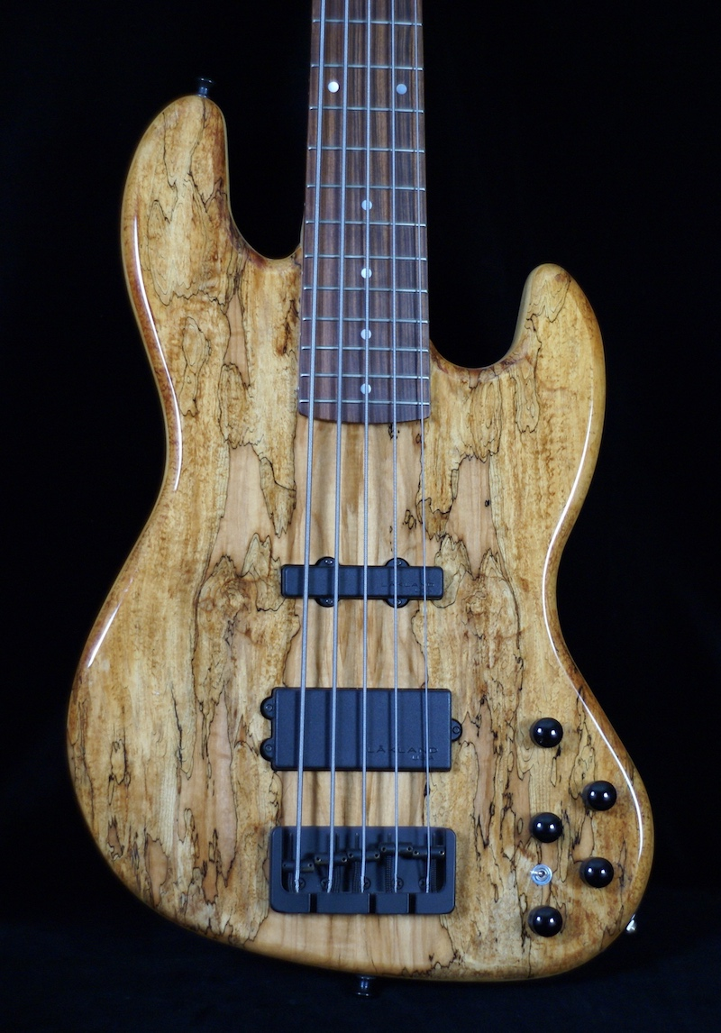 Jay Bass 5 - Here a Hot Wire Jay 5 with original Lakland pickups and Lakland active electronics was requested. Pictured is the LH3 system with neodymium pickups in a Hot Wire Dream Bass with Spalted Maple Top.