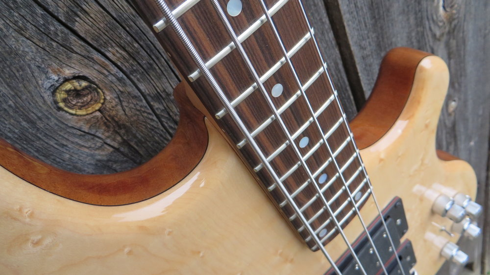 Neck - For the desired sound and feel we offer different neck variations: Thru, Bolt-on or set-in