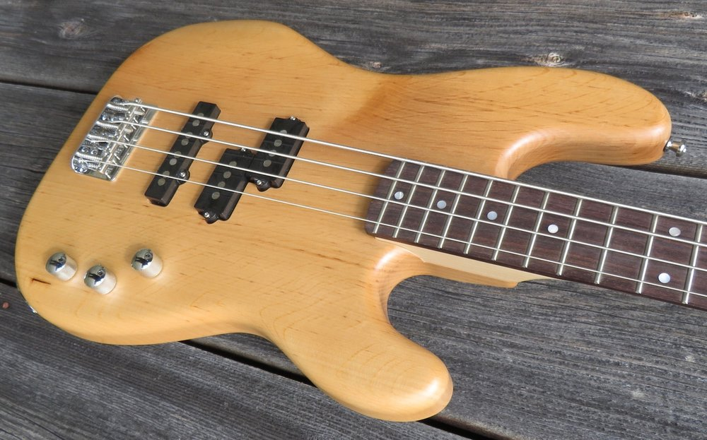 Body - We use selected tone woods for the desired sound characteristics.