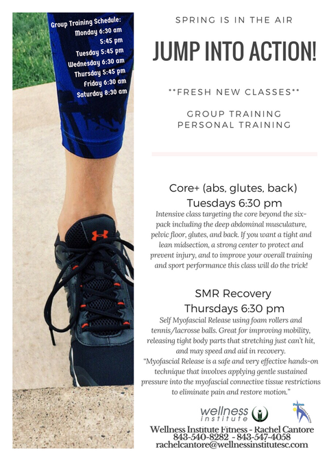 new fitness classes in march