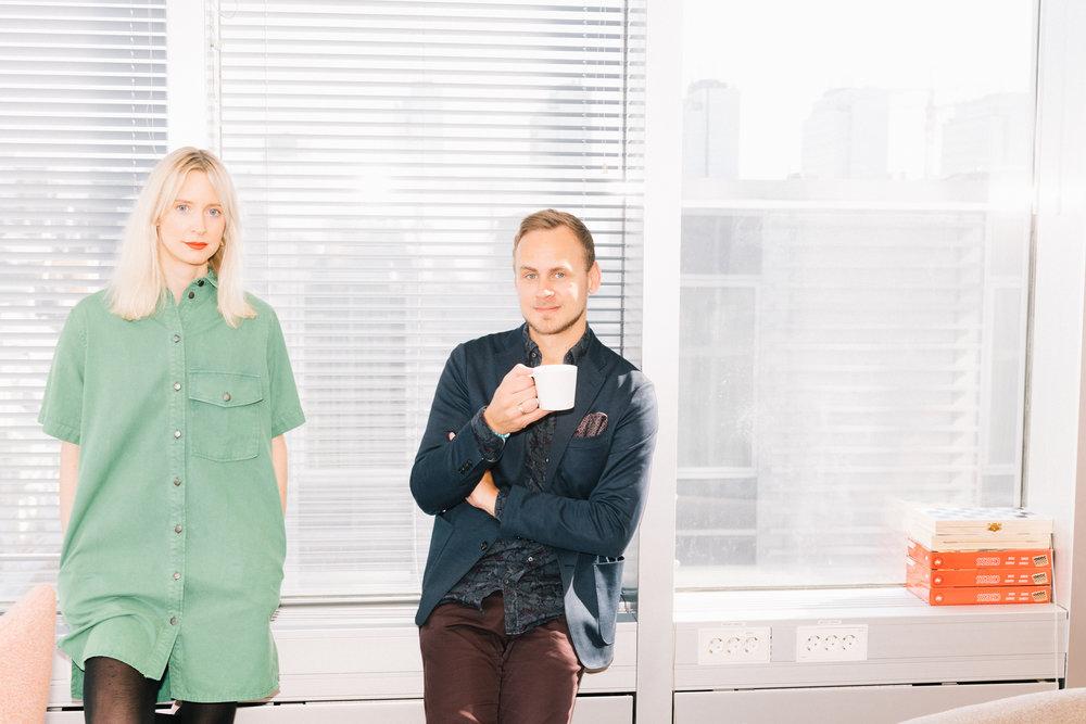 Livia Moore och Fredrik Cedervall