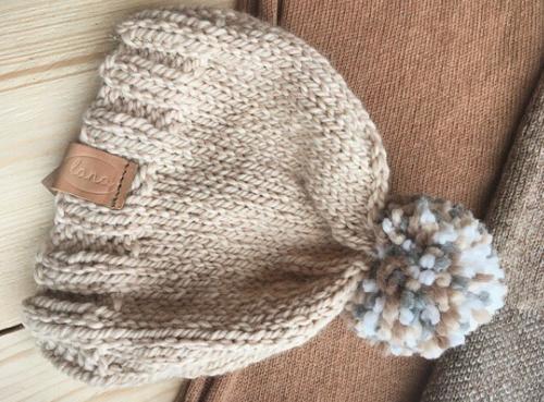 1667767d181 ... hand knit pom pom hat