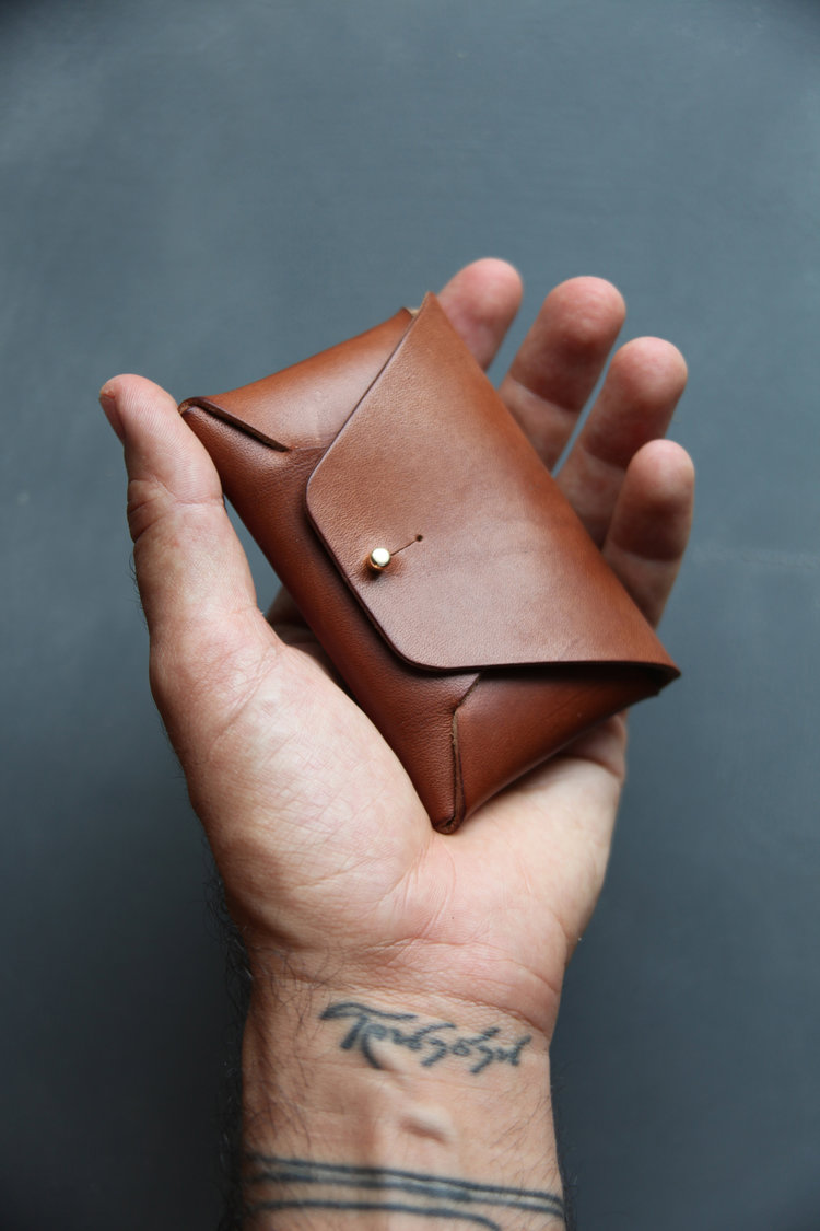 Vegetable Tanned Leather Wallet by Hyde Wares