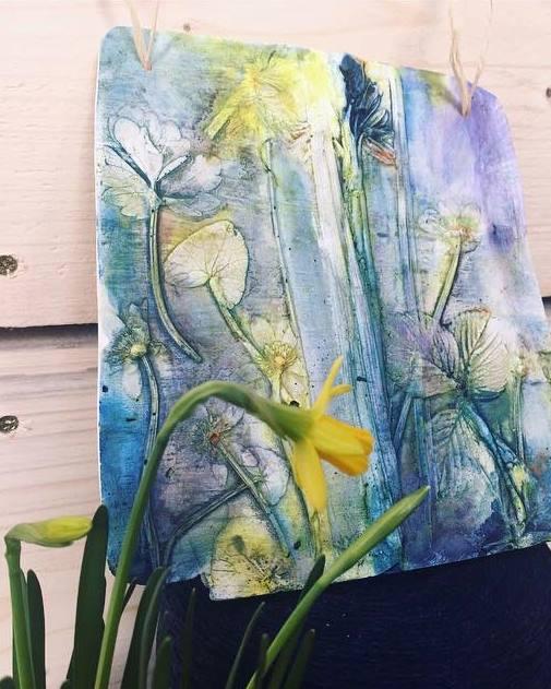 Springtime Tile by Candace Hilton