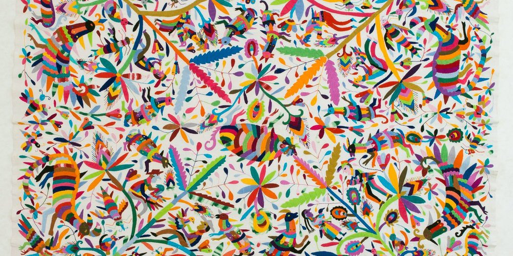 Otomi Embroidery sold by Saatchi for £1550