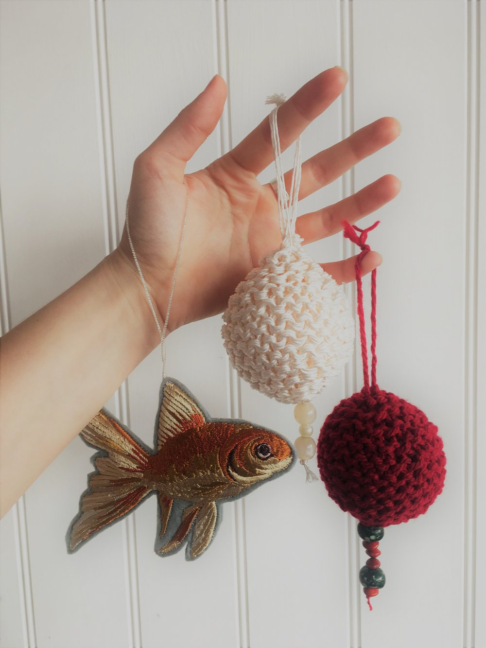 christmas knitted bauble
