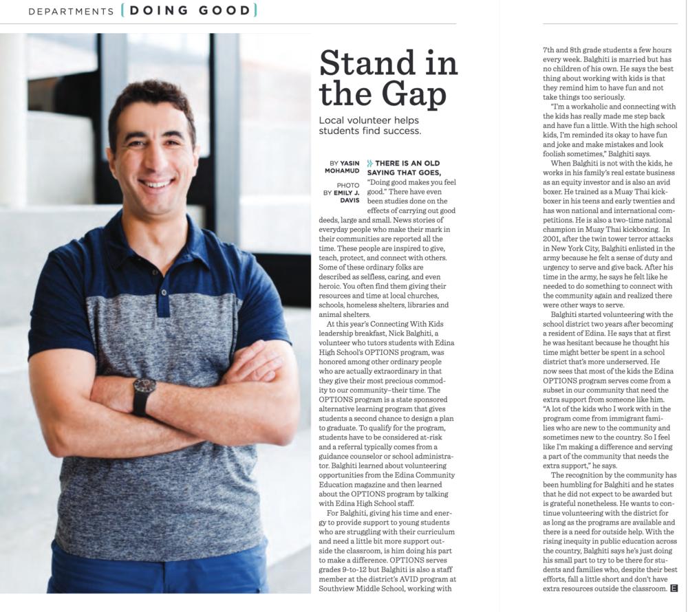Edina Magazine , August 2018, p. 13