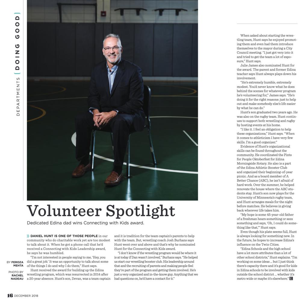 Edina Magazine , December 2018, p. 16