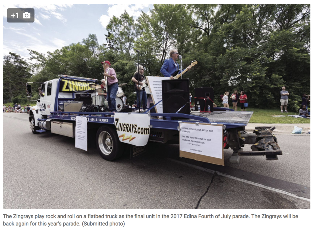 Rock and Roller Recalls Beginnings of Edina Parade.   Edina Sun Current , June 30, 2018