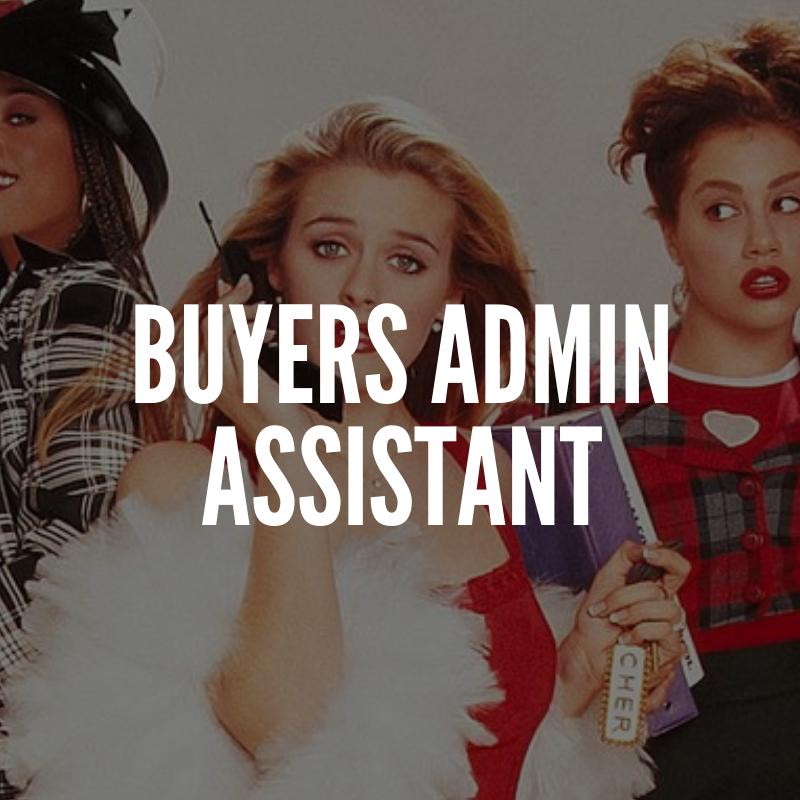 buyers admin assistant