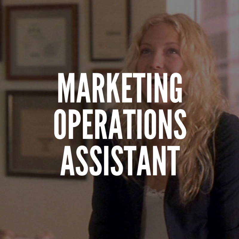 marketing operations assistant
