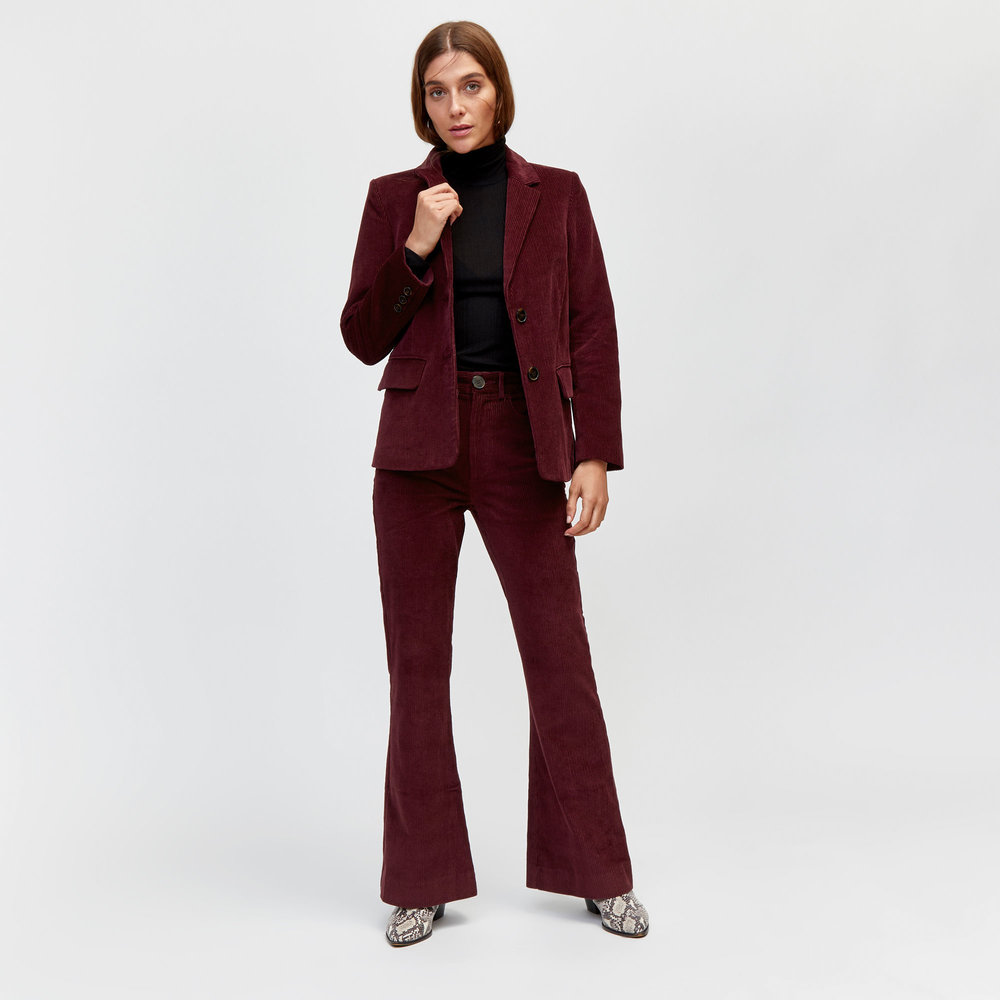 Cord flares. - My favourite is this gorgeous burgundy pair from Warehouse.