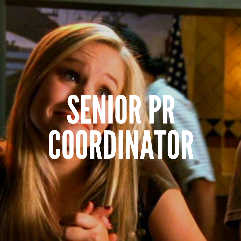 senior pr coordinator