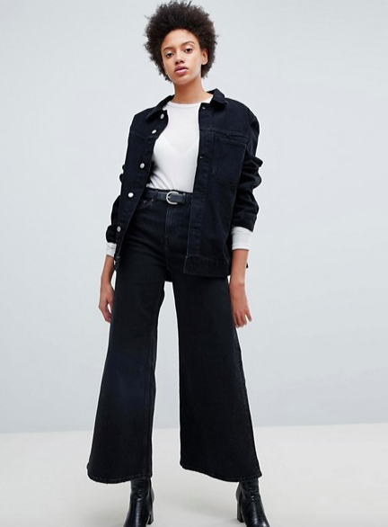 Wide leg jeans - They'll keep your ankles warm and you'll look great.