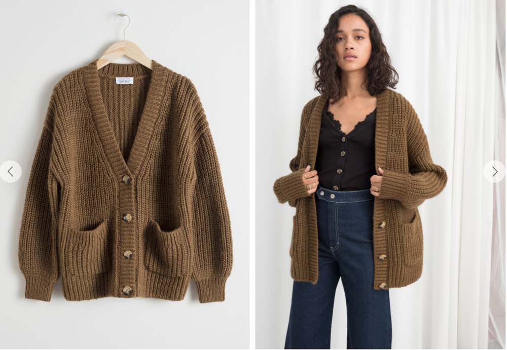 Chunky button knit - Mine lives at the office which is -4 degrees. Perfect throw on for March whilst the weather decides what mood it's in. Which I predict will match that of a thirteen year old girl.