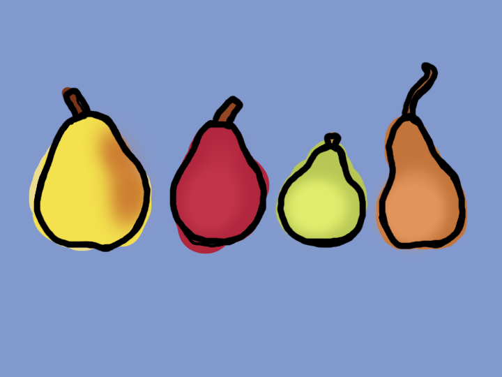 Four Pears by Jane Aaron