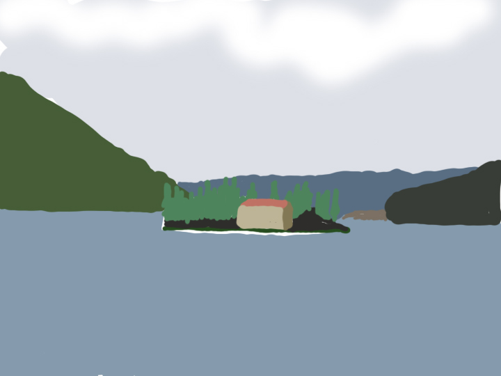 House on a Lake by Jane Aaron