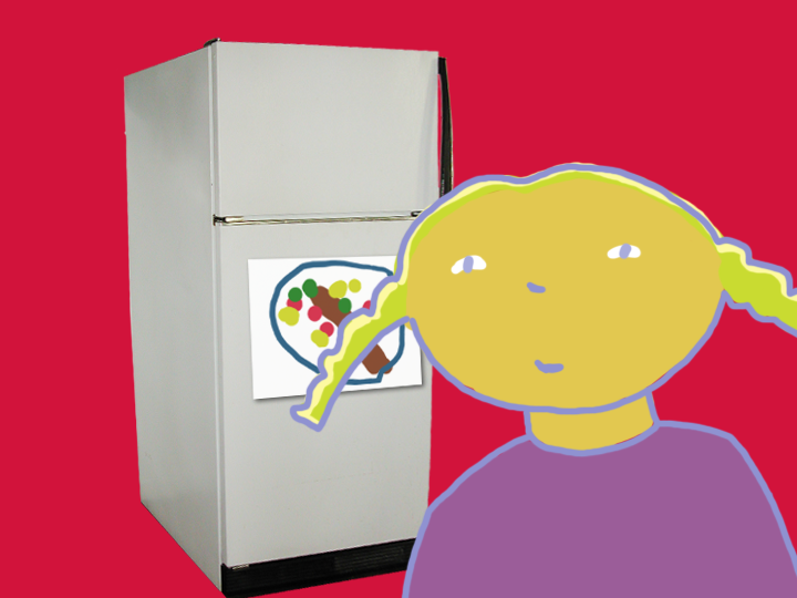 Girl with Refrigerator by Jane Aaron