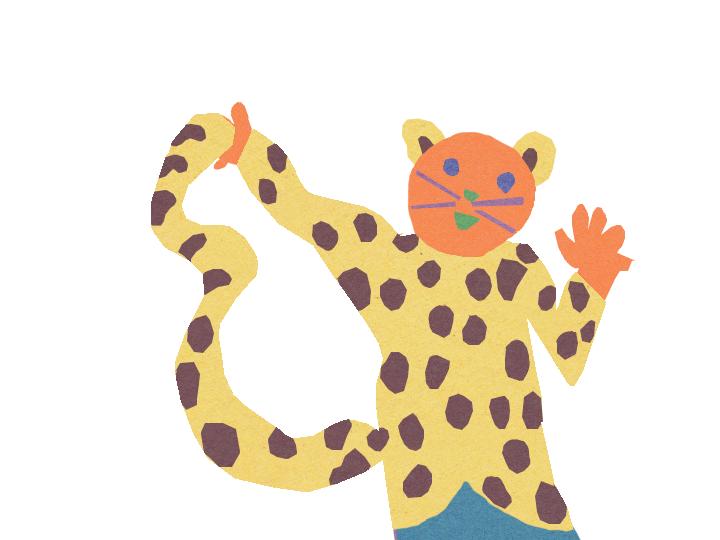 Friendly Cat in Leopard Coat by Jane Aaron