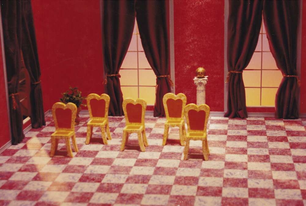 "Set of ""Five Waltzing Chairs"" for ""Sesame Street"""