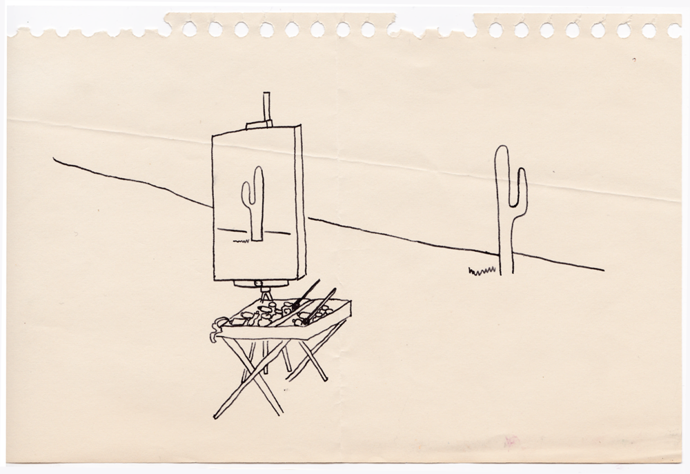 Drawing a Cactus in the Desert by Jane Aaron