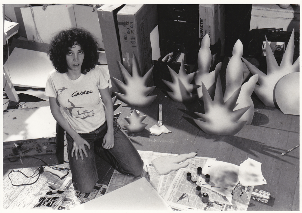 "Jane crafting props for ""Interior Designs"" (1980)"