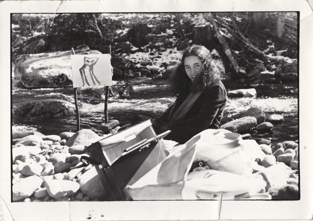 "Jane Aaron on the set of ""In Plain Sight"" (1977)"