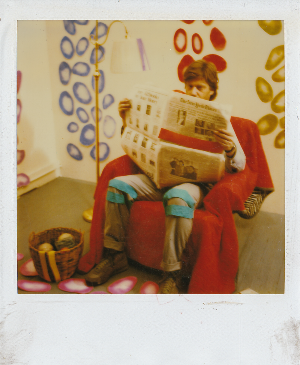 """Polaroid from the set of """"Set In Motion"""" (1986)"""