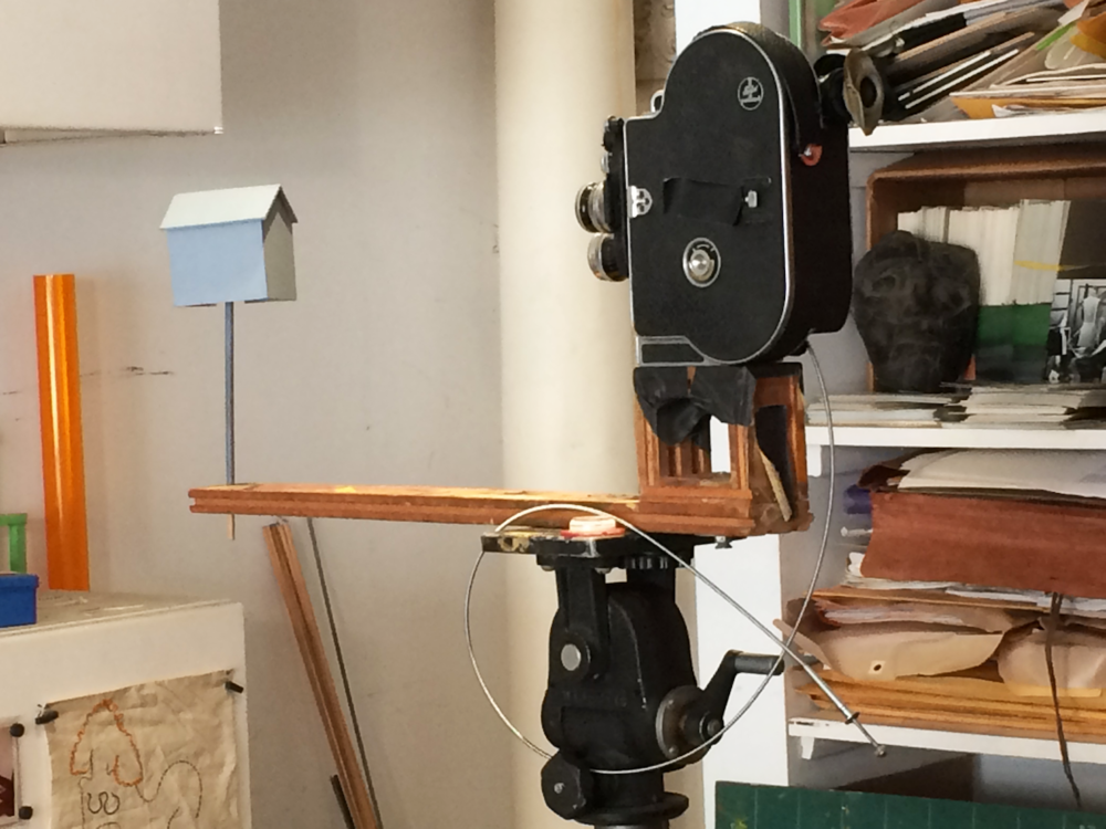 Example of Jane's custom Bolex animation rig