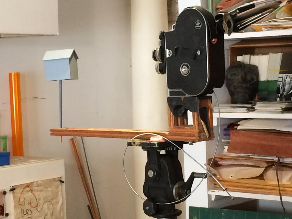 Example of Jane's custom Bolex animation rig