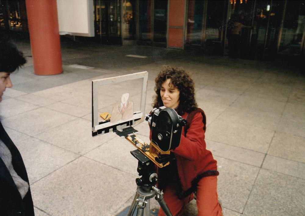 """Jane on set, animating """"Bob"""" from """"Image Union"""""""