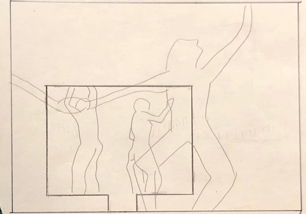 "Jane's preliminary planning for ""Interior Designs"" (1980)"