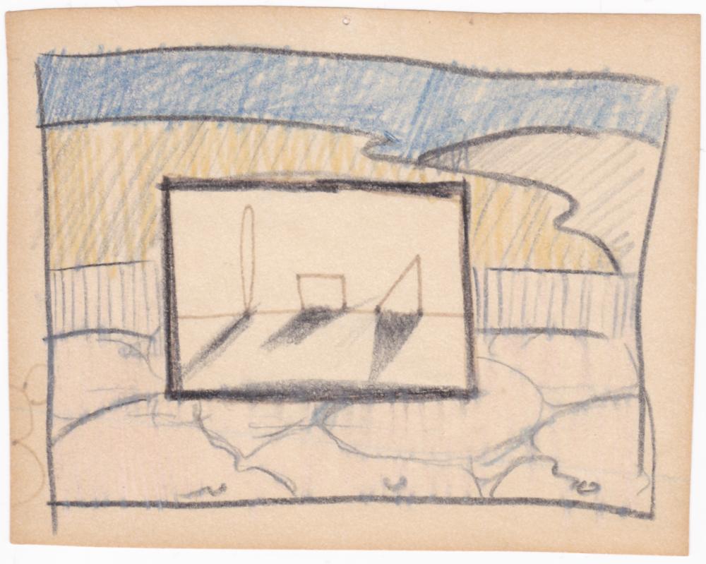 """Predatory sketch for """"Interior Designs"""" (1980)"""