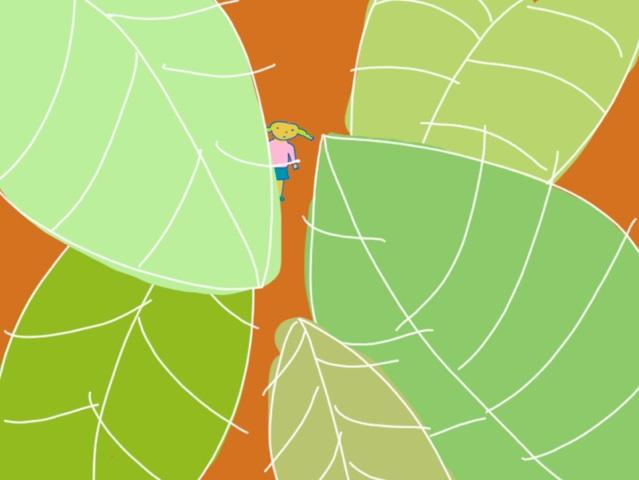 Girl in Leaves by Jane Aaron