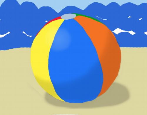 Beach Ball by Jane Aaron